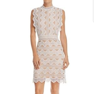 NWT Lucy Paris White Lace Eyelet Crochet Dress